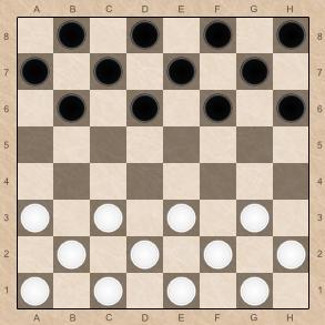 расстановка шашек на доске фото